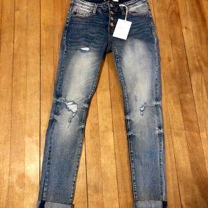 NWT Kancan girlfriend jeans